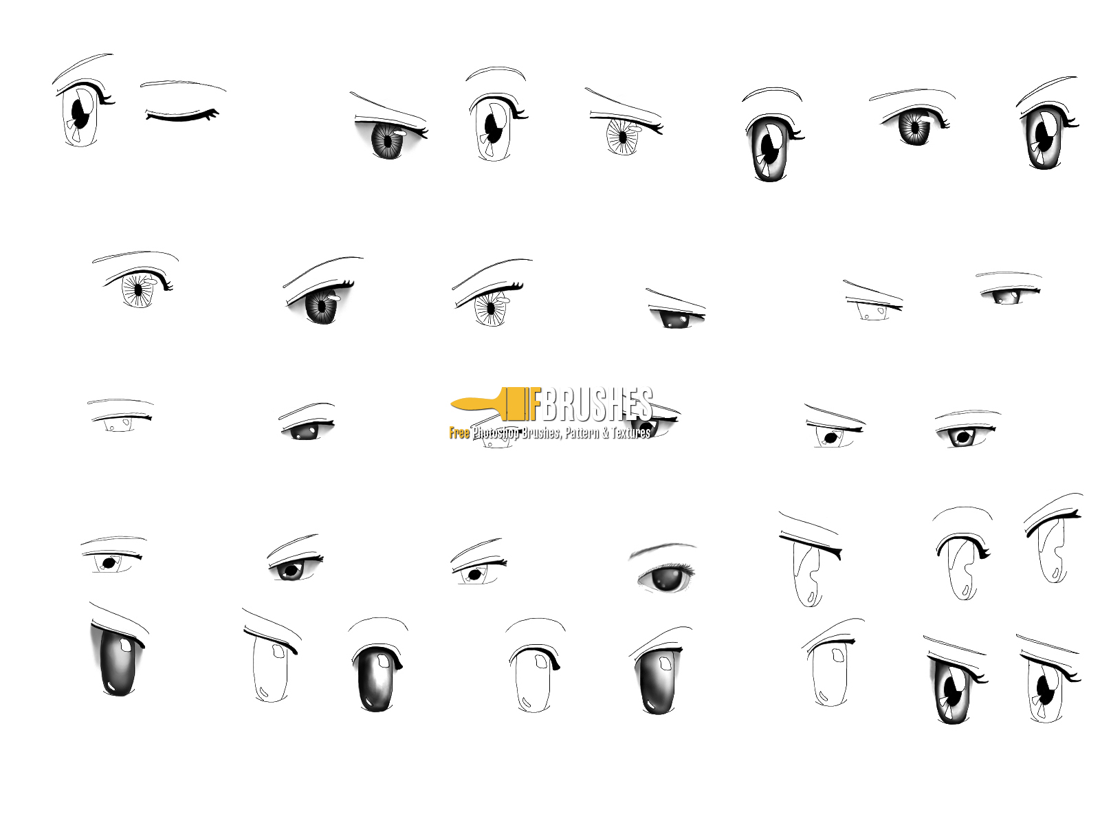 Anime Manga Eyes Brushes Fbrushes